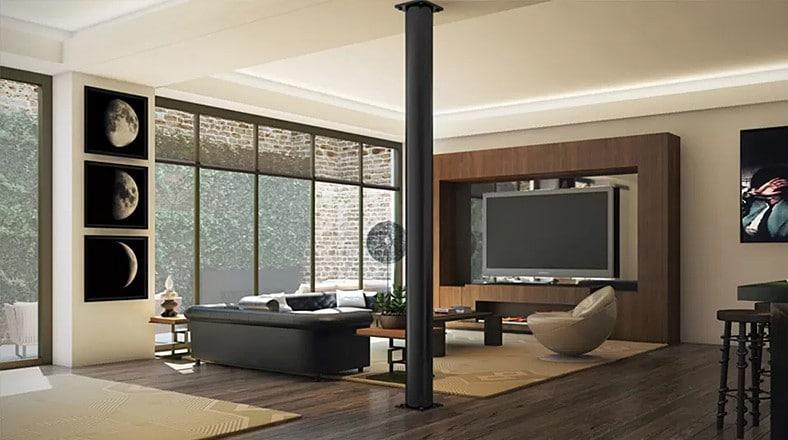 Dise o de interiores de apartamento de lujo for Adornos para departamentos modernos