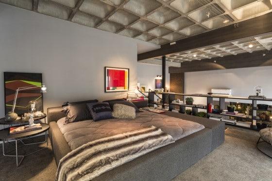 Diseño de dormitorio moderno de apartamento