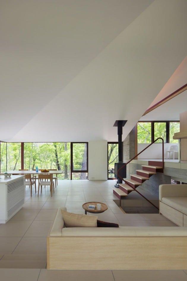 Dise o de casa de campo moderna construida en concreto for Diseno de casas de campo modernas
