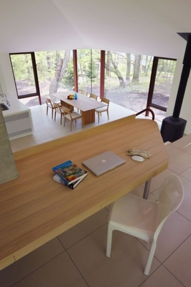 Diseño interior de casa en desnivel