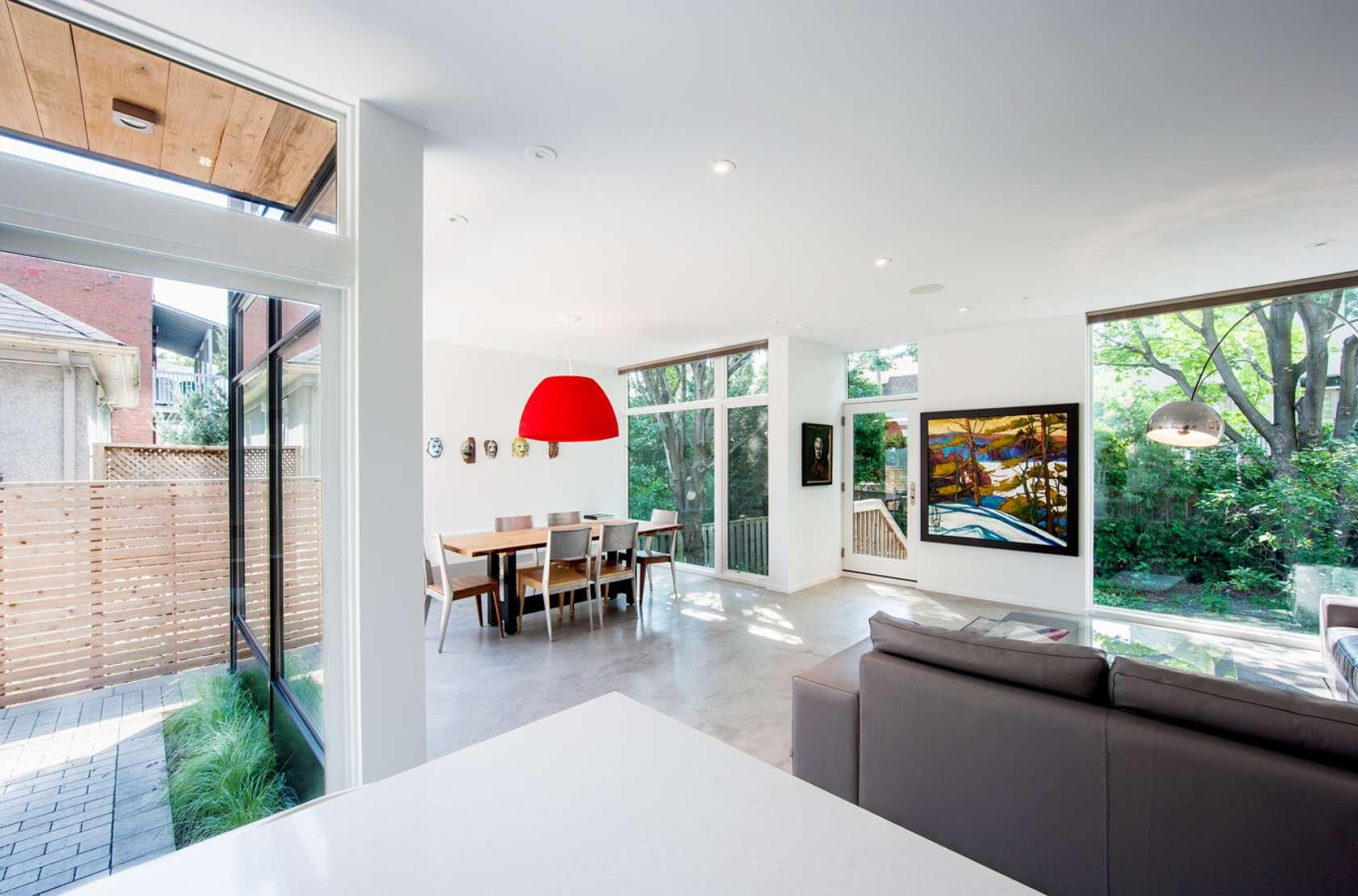 Dise o de casa de dos plantas en esquina fachada e for Casa minimalista interior cocina