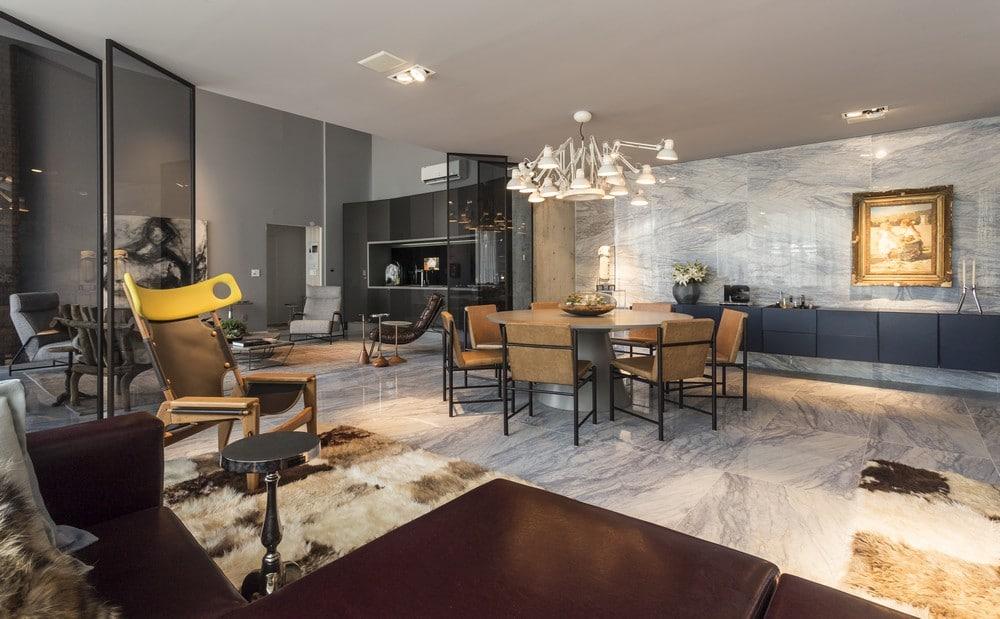 Dise o de apartamento tipo loft moderna decoraci n for Living pequeno moderno