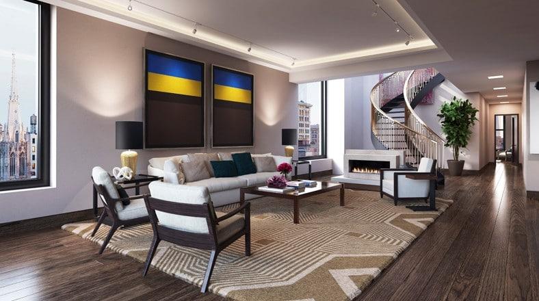 Dise o de interiores de apartamento de lujo for Decoracion en departamentos modernos