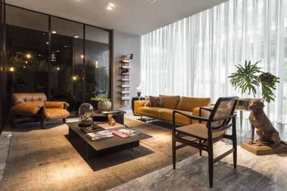 Diseño de sala estar en apartamento