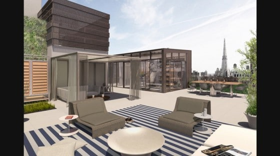 Diseño de terraza en azotea