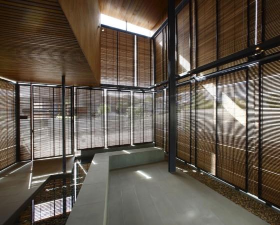 Diseño de persianas horizontales de madera