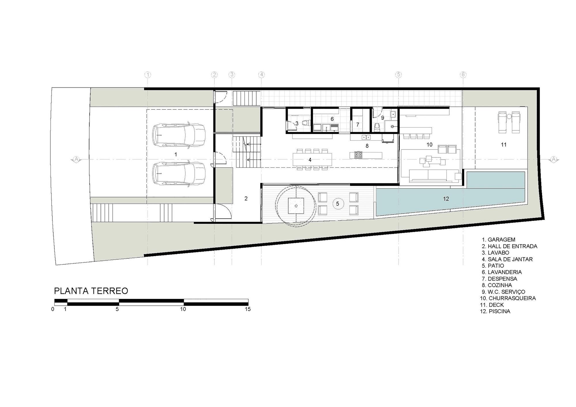 Dise o de moderna casa de dos pisos con fachada y planos for Planos de casas minimalistas de 2 pisos