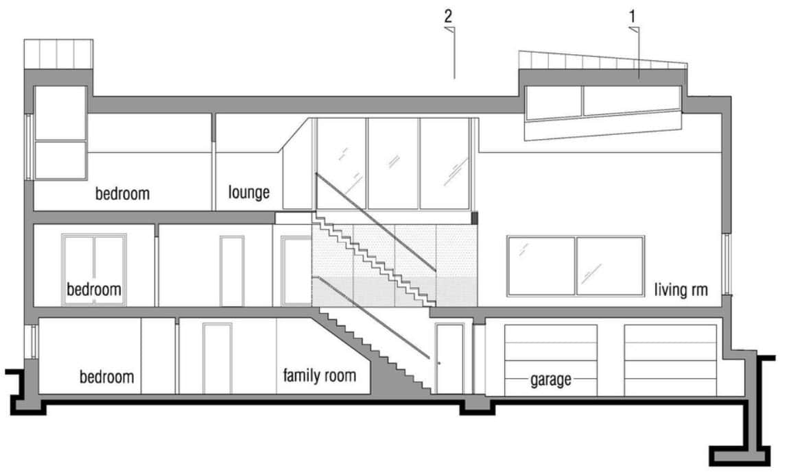 Dise o de casa pasiva de dos pisos fachada y planos for Diseno de interiores nota de corte