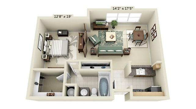 Planos de apartamentos peque os de un dormitorio dise os for Decoracion minidepartamento