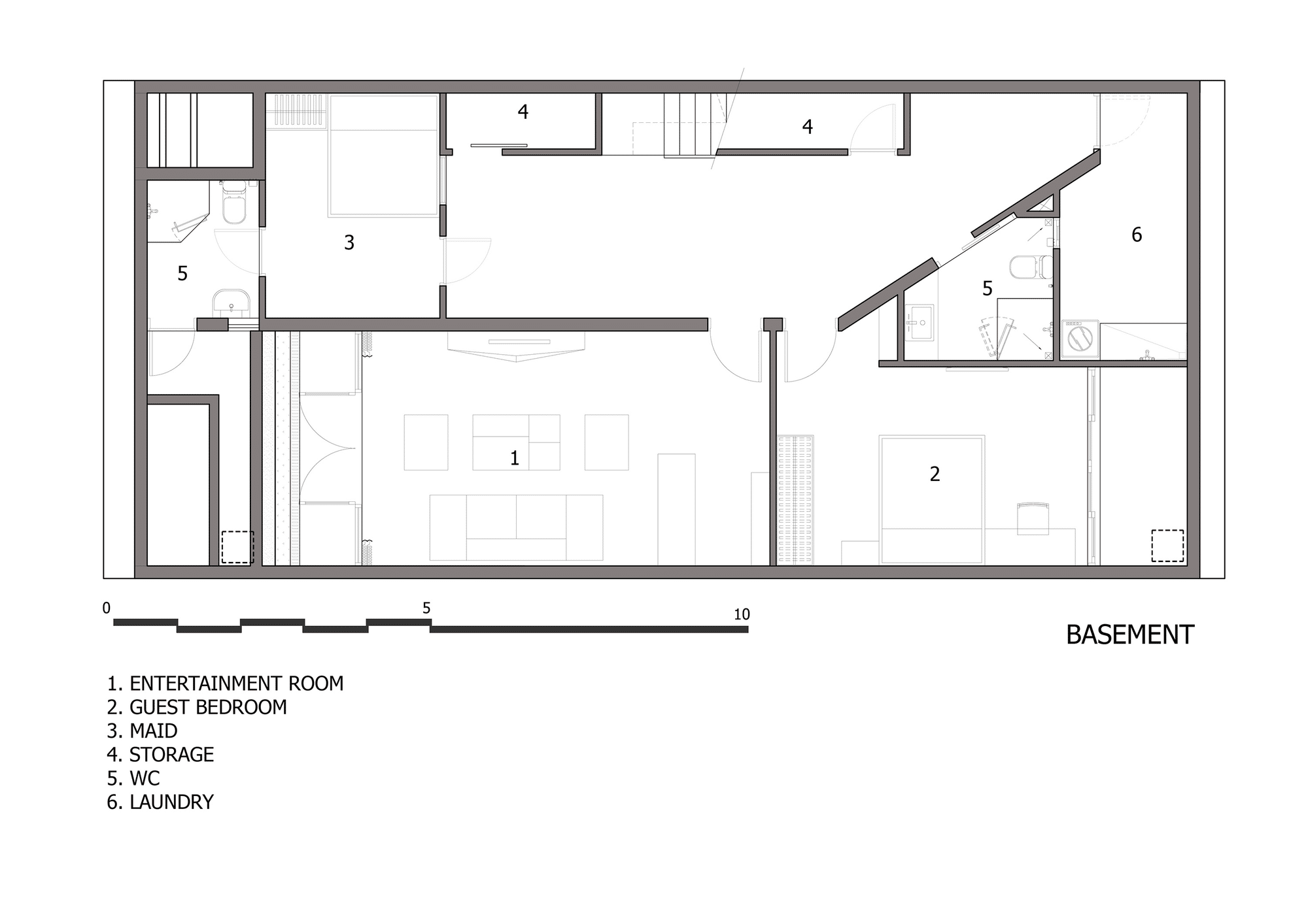 Dise o de casa moderna de tres pisos planos y fachada for Planos de casas medianas