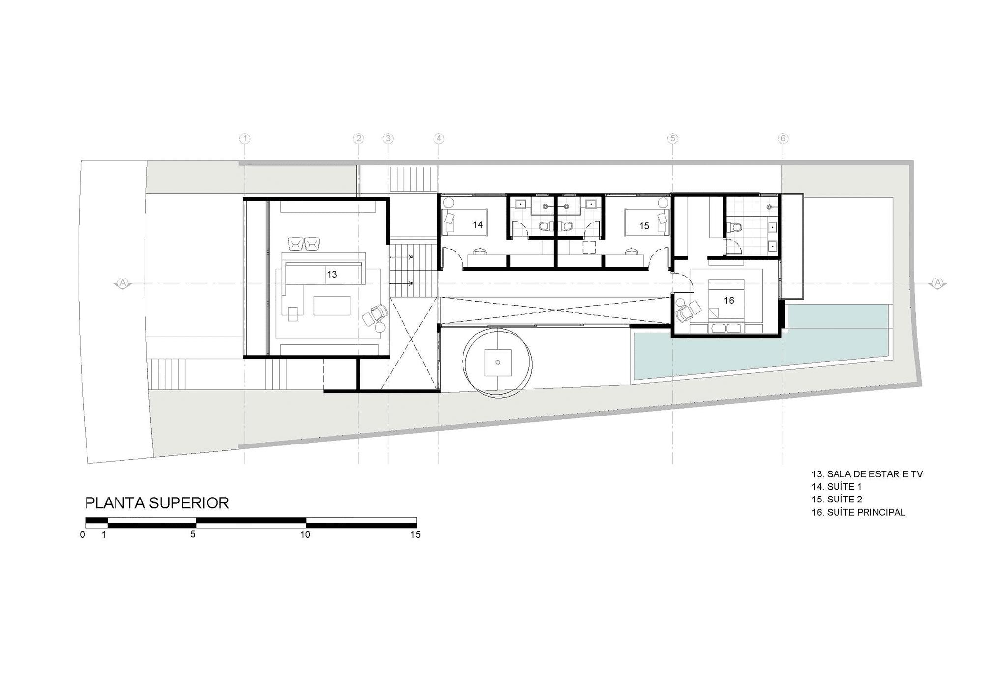 Dise o de moderna casa de dos pisos con fachada y planos for Diseno casa en l