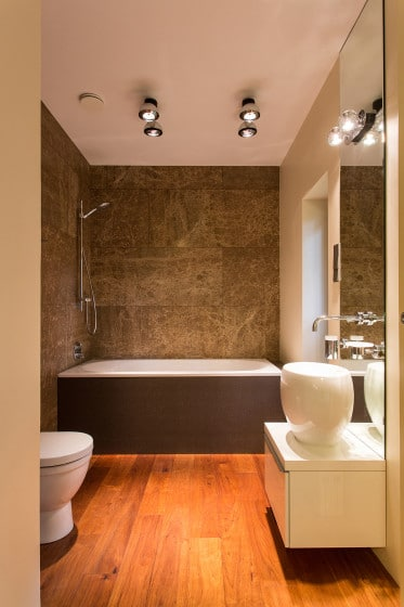 Decoración de cuarto de baño modero