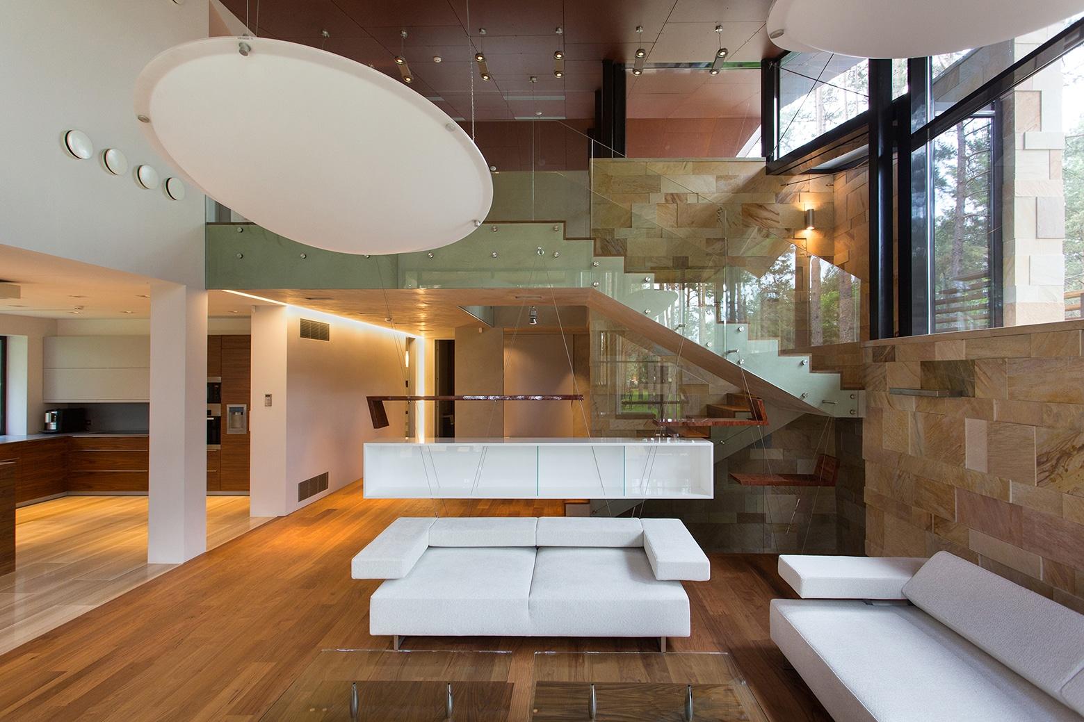 Casa de campo con planos dise o de fachada e interiores for Interior de casas modernas