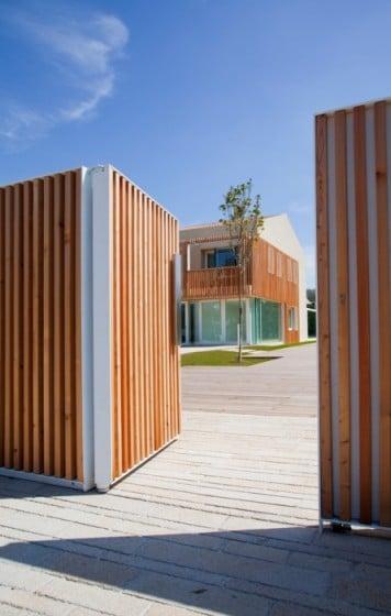 Diseño de cerco varillas de madera