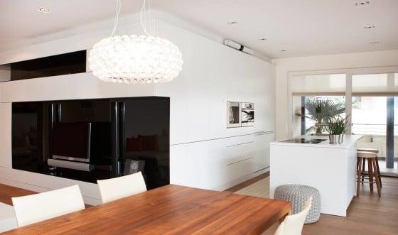 Diseño de cocina comedor moderno