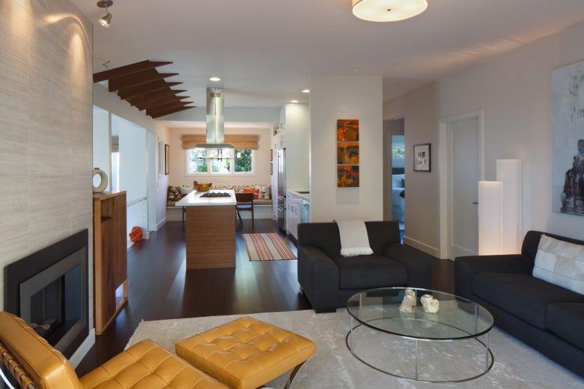 Dise o de casa de una planta planos fachada e interior for Planos de cocina lineal