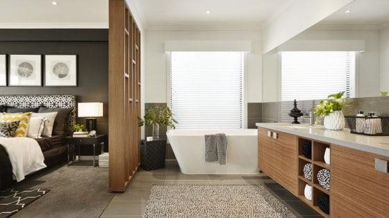 Diseño de cuarto de baño de dormitorio