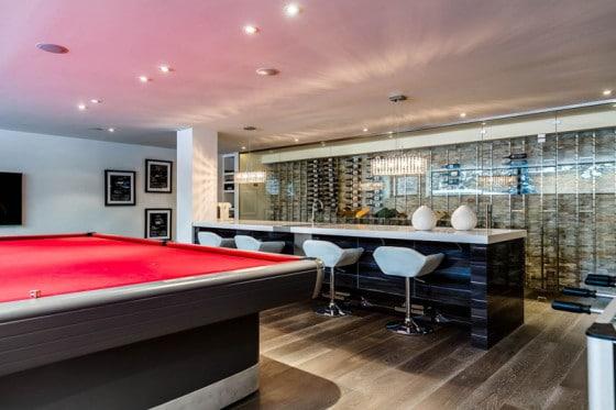 Diseño de cuarto de billas para casa
