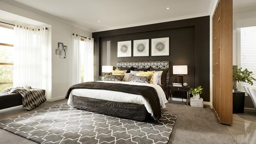 Casa de un piso moderna dos fachadas y dise o interior - Decoracion de interiores dormitorios ...