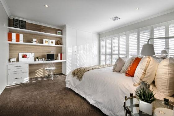 Diseño de dormitorio secundario con cuarto de estudio