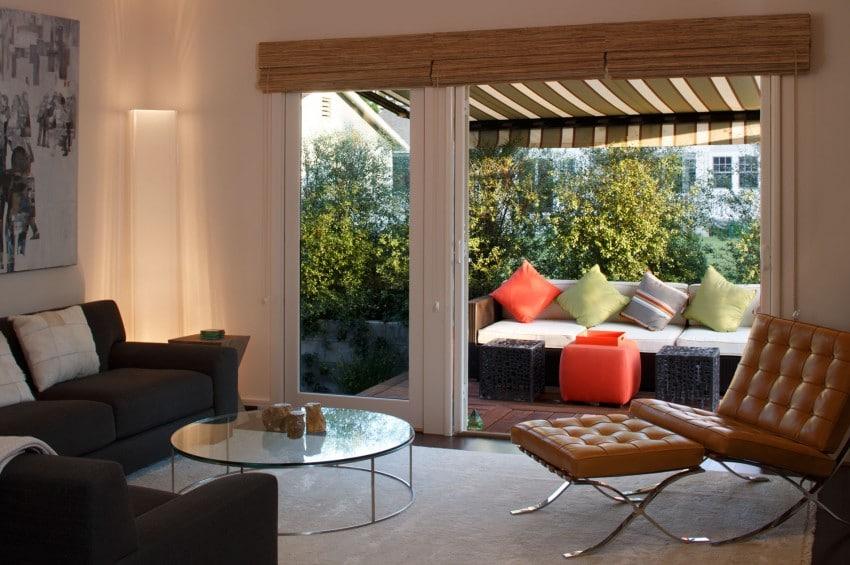 Dise o de casa de una planta planos fachada e interior for Salas de terraza