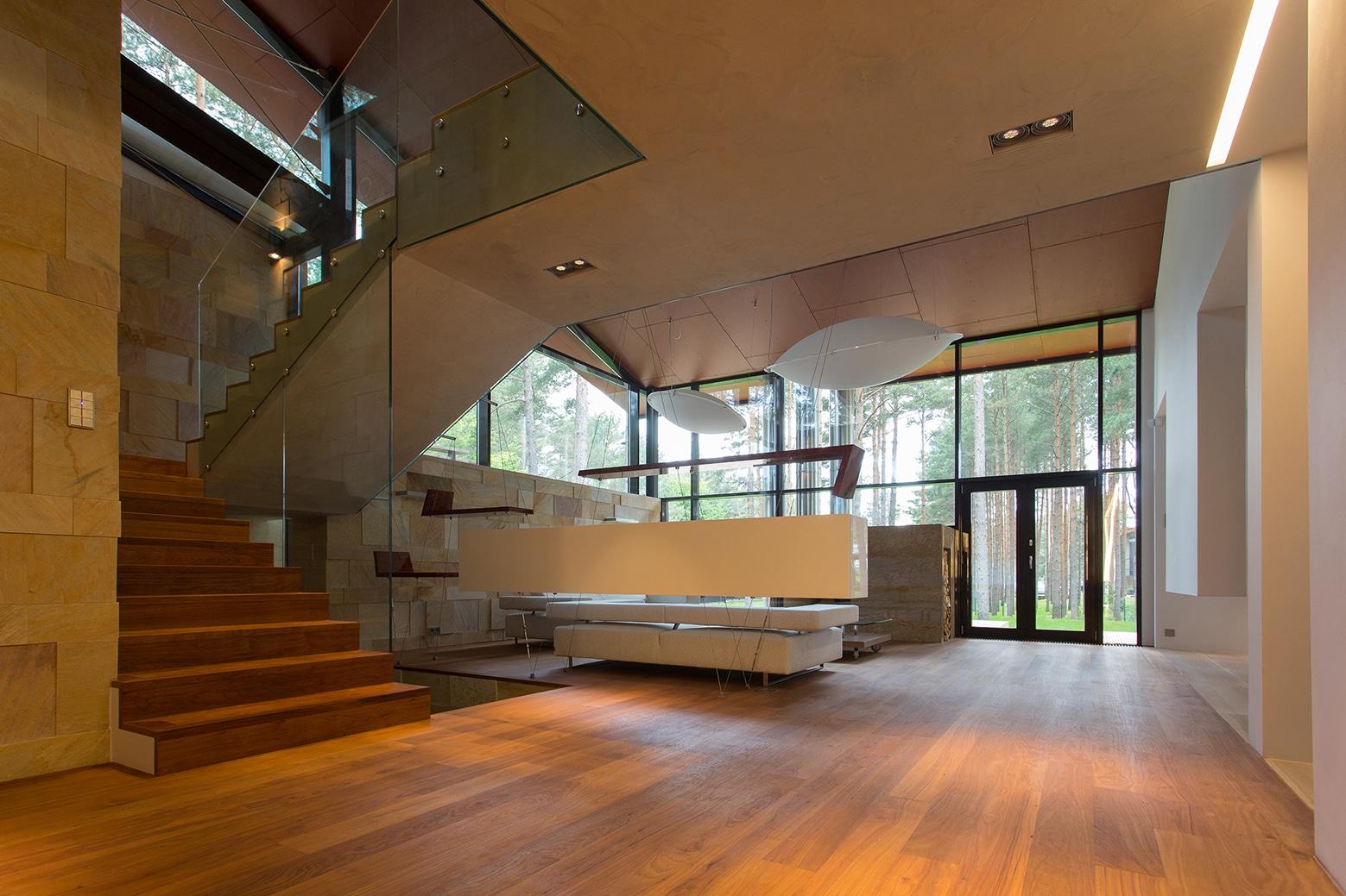 Casa de campo con planos dise o de fachada e interiores for Pisos interiores modernos
