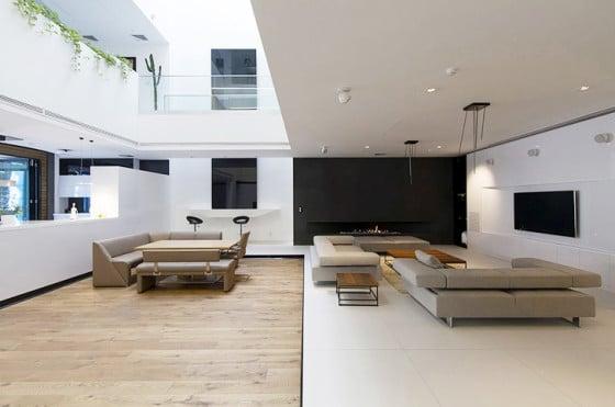 Diseño de interiores de moderna sala
