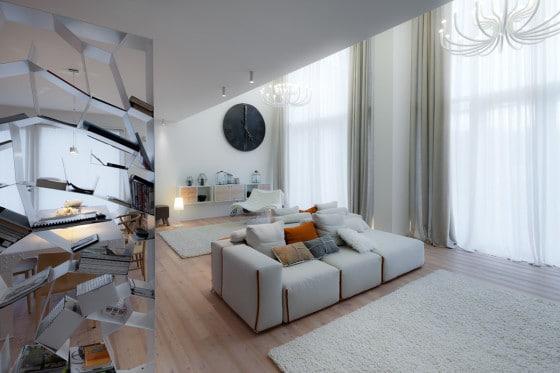 Diseño de interiores de sala  ecológica