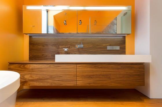 Diseño de lavatorios de madera cuarto de baño