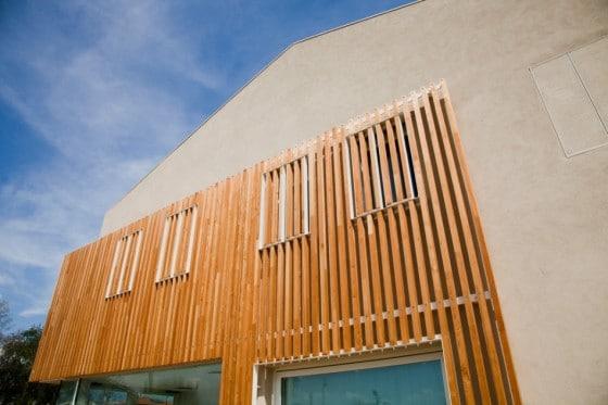 Diseño de pared varillas de madera