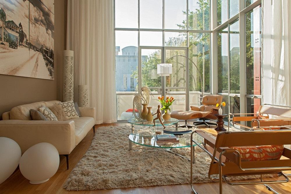 Dise o de casa ubicada en esquina moderna for Diseno de interiores sala de estar