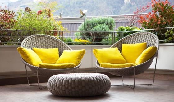 Diseño de sillones para terraza de fibras naturales