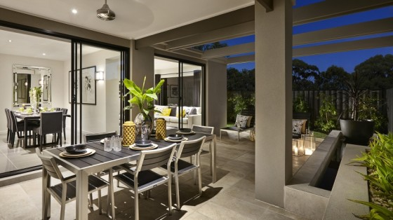 Diseño de terraza de la casa de un piso