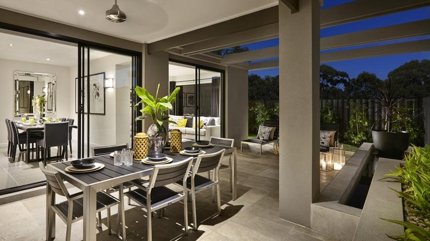 Casa de un piso moderna dos fachadas y dise o interior - Diseno de interiores casas modernas ...