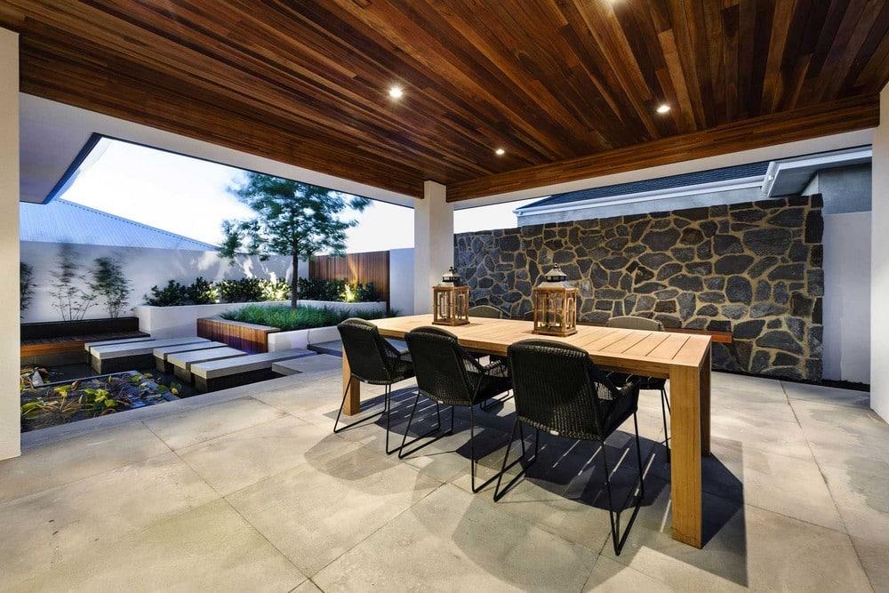Dise o de casa de un piso estilo oriental con planos for Terrazas japonesas