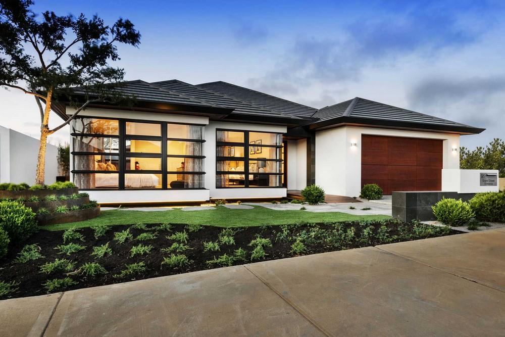 Dise o de casa de un piso estilo oriental con planos for Disenos de pisos para casas