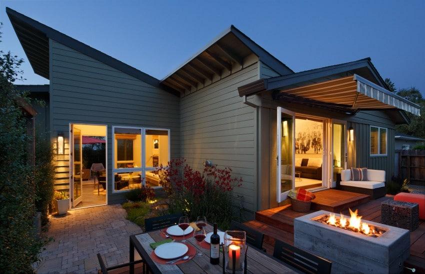 Dise o de casa de una planta planos fachada e interior for Casas contemporaneas de una planta