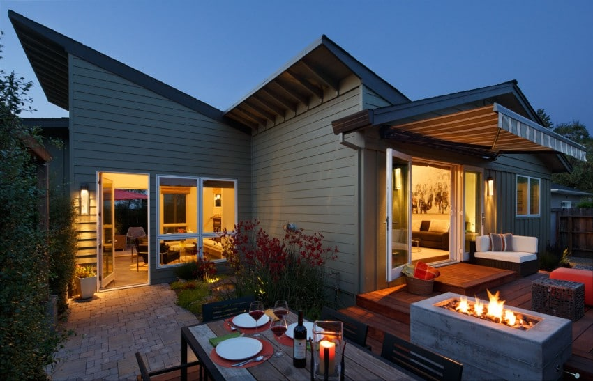Dise o de casa de una planta planos fachada e interior for Fachadas modernas de una planta