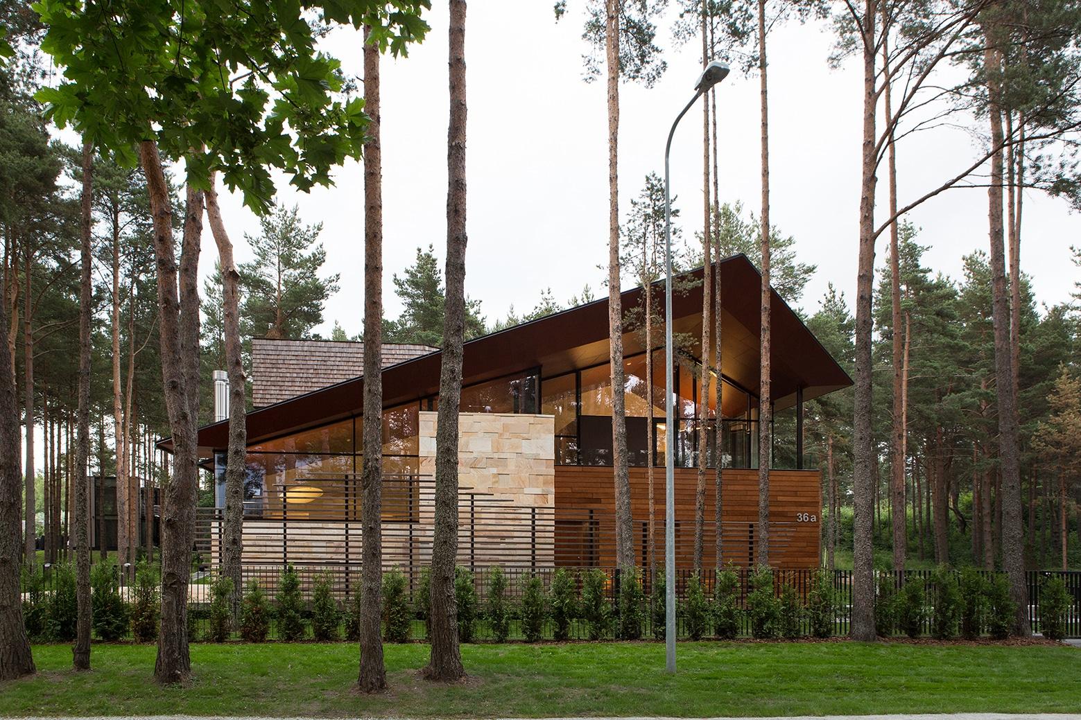 Casa de campo con planos dise o de fachada e interiores - Como cerrar un terreno con madera ...
