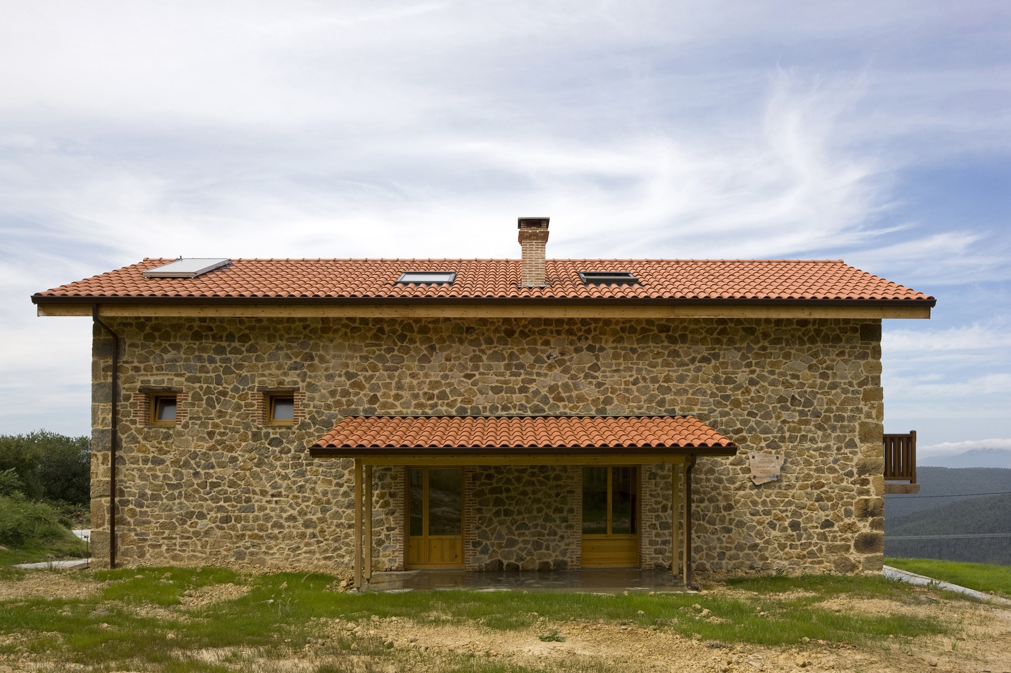 Dise o de casa r stica de piedra planos construye hogar - Diseno casas rusticas ...