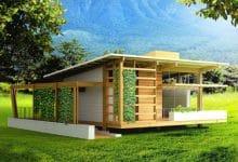 Photo of Casa pequeña de madera autosustentable, diseño de interiores y construcción del proyecto Tropika