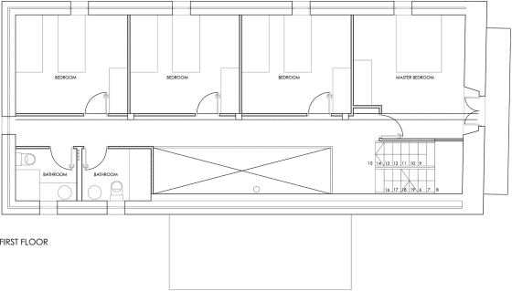 Plano de casa de dos pisos pequeña rústica