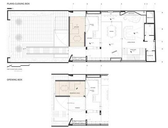 Planos de casa con ambientes móviles