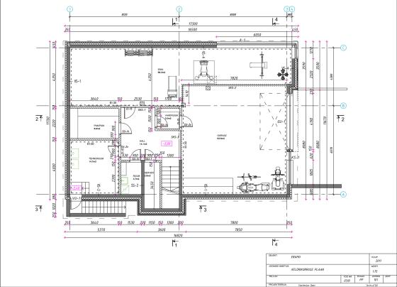 Planos de sótano de casa cuadrada de campo