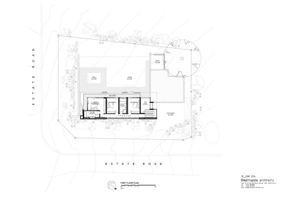 Planos de casa moderna de dos pisos (segundo piso)