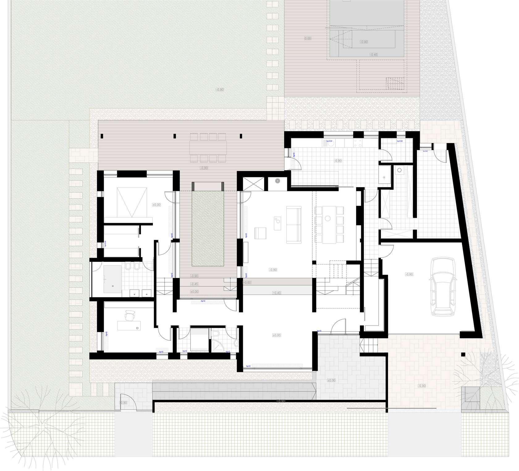Dise o de casa moderna de dos pisos fachadas y planos for Planos de casas modernas