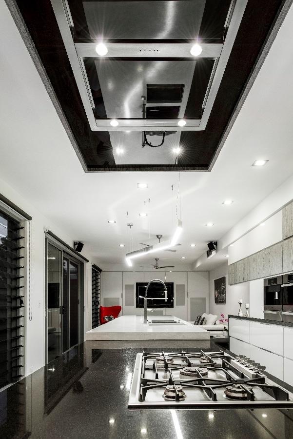 Detalles de dise o de una moderna cocina - Luminarias para cocinas ...