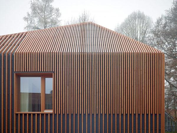 Modelo de casa de madera fachada y planos construye hogar - Varillas de madera ...