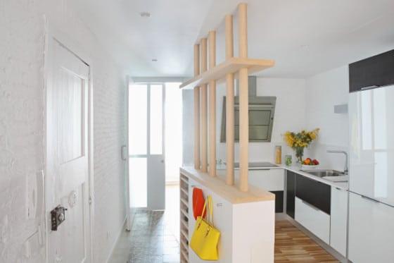 Diseño de cocina pequeña de departamento