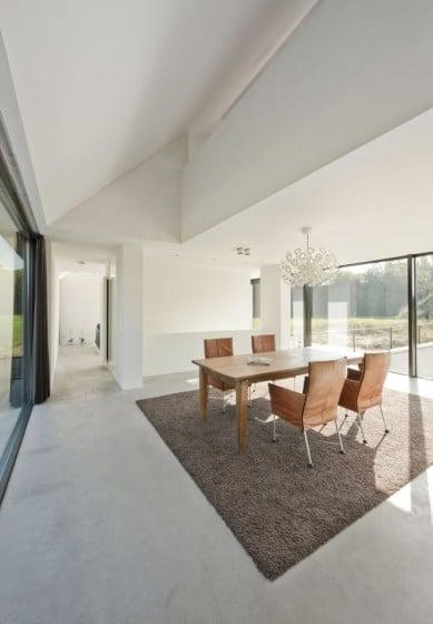 Diseño de comedor de casa moderna de una planta